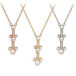 Diamond Mickey Mouse Three Icon Necklace - 14K
