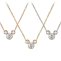 Diamond Mickey Mouse 14K Necklace - Medium