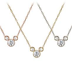 Diamond Mickey Mouse Necklace - Medium - 18K
