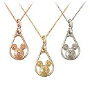Mickey Mouse Gold Coiled Necklace - 14K
