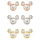 Diamond Mickey Mouse 14K Earrings - Medium