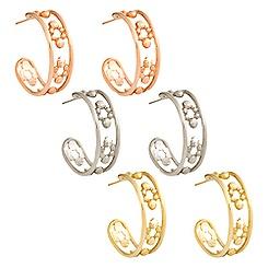 Mickey Mouse Hoop Earrings - 14K