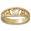 Diamond Mickey Mouse Icon Ring for Men - 14K Yellow Gold