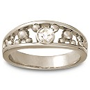 Diamond Mickey Mouse Icon Ring for Men - 14K White Gold