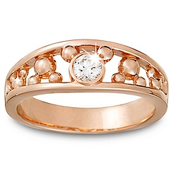 Diamond Mickey Mouse Ring for Men - 14K Rose Gold