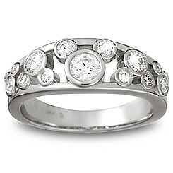 Diamond Mickey Mouse Icon Ring for Women - 14K White Gold