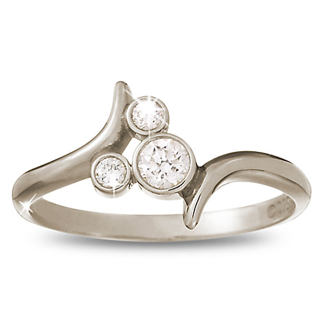 Diamond Mickey Mouse Bypass Ring