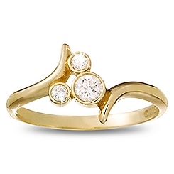 Diamond Mickey Mouse Icon Bypass Ring - 18K Yellow Gold