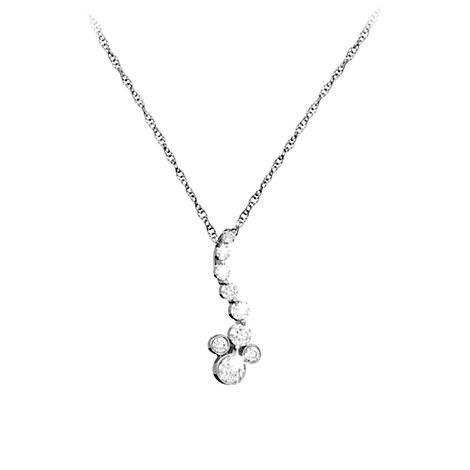Mickey Mouse Diamond Necklace - Platinum