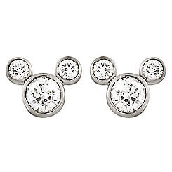 Mickey Mouse Diamond Earrings - Small