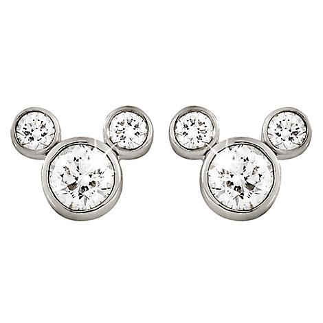 Mickey Mouse Diamond Earrings Large Jewelry Disney Store