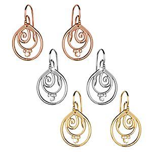 Mickey Mouse Diamond Swirl Earrings