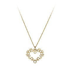 Mickey Mouse Icon Diamond Heart Necklace