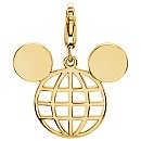 Mickey Mouse Globe Icon Charm