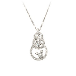 Three Circle Swarovski Crystal Mickey Mouse Necklace by Arribas