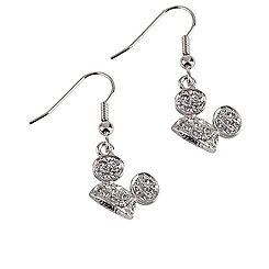 Mickey Mouse Ear Hat Earrings by Arribas