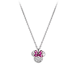 Minnie Mouse Icon Bow Necklace by Arribas