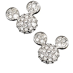 Mickey Mouse Icon Earrings by Arribas - Domed