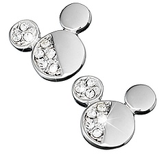 Mickey Mouse Icon Half Crystal Earrings by Arribas