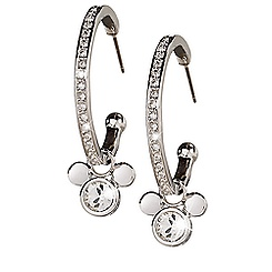 Mickey Mouse Icon Hoop Earrings by Arribas