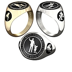 Mickey Mouse and Tinker Bell RunDisney Ring by Jostens - Personalizable