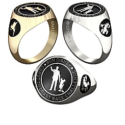 Mickey Mouse and Walt Disney with RunDisney Ring for Women by Jostens