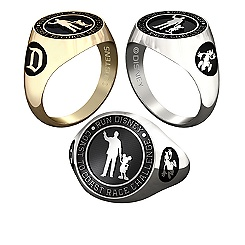 Mickey Mouse and Walt Disney RunDisney Ring for Men by Jostens - Personalizable
