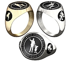 Mickey Mouse and Tinker Bell RunDisney Ring for Men by Jostens - Personalizable