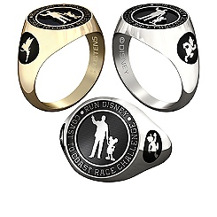 Donald Duck and Tinker Bell RunDisney Ring for Men by Jostens - Personalizable