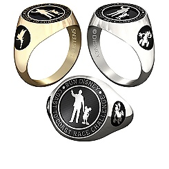 Goofy and Tinker Bell RunDisney Ring for Men by Jostens - Personalizable