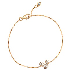 Mickey Mouse Icon Bracelet by CRISLU - Yellow Gold