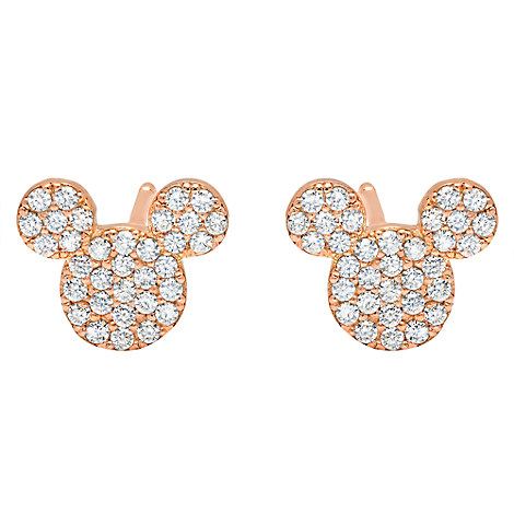 mickey mouse icon stud earrings by crislu gold