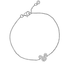 Mickey Mouse Icon Bracelet by Crislu - Platinum