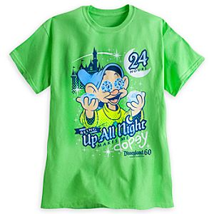 Dopey ''Up All Night'' Tee for Adults - Disneyland - Limited Availability