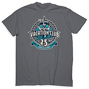 Mickey Mouse Disney Vacation Club Tee for Adults - 25th Anniversary - Limited Release
