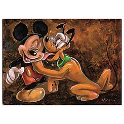 ''Mickey and Pluto'' Giclée by Darren Wilson