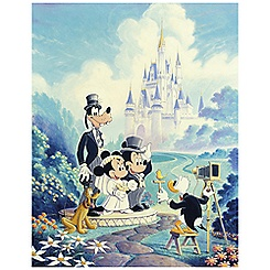 ''Mickey and Minnie Wedding'' Mickey Mouse Giclée
