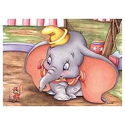 ''Dumbo at the Circus'' Giclée