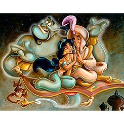 Aladdin and Jasmine Giclée by Darren Wilson