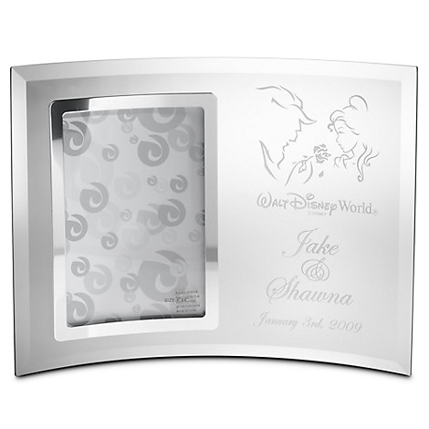 Beauty and the Beast Glass Frame by Arribas - Personalizable
