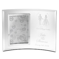Cinderella and Prince Charming Glass Frame by Arribas