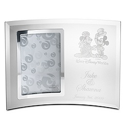 Minnie and Mickey Mouse Glass Frame by Arribas