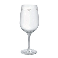 Mickey Mouse Icon Wine Glass by Arribas - Personalizable