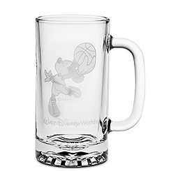 Glass Basketball Mickey Mouse Stein by Arribas