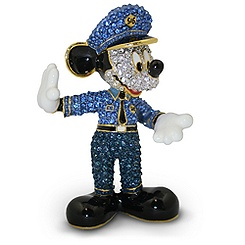 Policeman Mickey Mouse Figurine by Arribas - Jeweled