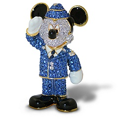 Air Force Mickey Mouse Figurine by Arribas - Jeweled