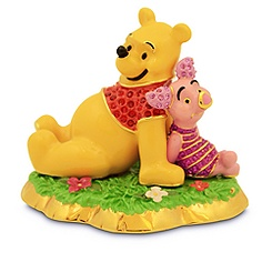 Jeweled Winnie the Pooh and Piglet Figurine by Arribas Brothers