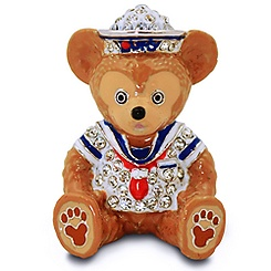 Jeweled Mini Duffy the Disney Bear Figurine by Arribas