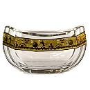 Walt Disney World Crystal Noah's Ark Bowl with Gold by Arribas - Limited Edition