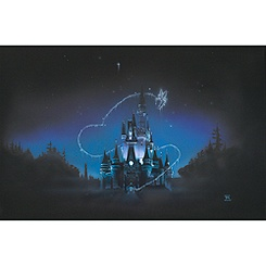 Cinderella Castle ''40 Magical Years'' Giclée by Noah